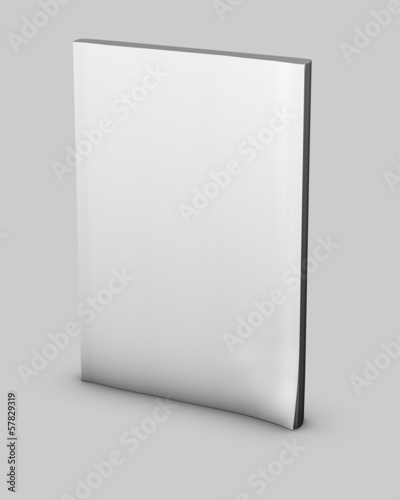 empty magazine diary notebook with blank cover isolated
