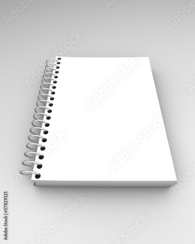 white paper notebook isolated illustration