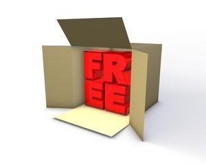 free promotion concept illustration