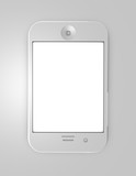 touchpad phone isolated illustration top view