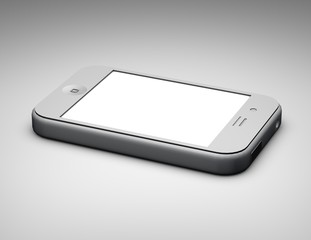 phone touchpad isolated illustration backview