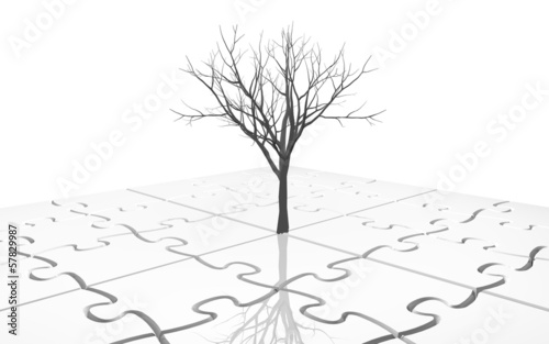 background with jigsaw puzzles illustration