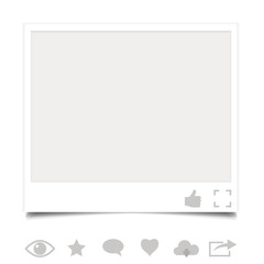 Blank photo frame with icons