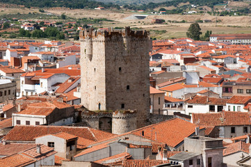Tower of the castle of the Dukes of Alba, Coria (Spain)