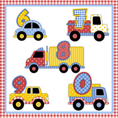 Carrinhos Patchwork de 6 a 0