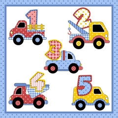 Carrinhos Patchwork de 1 a 5
