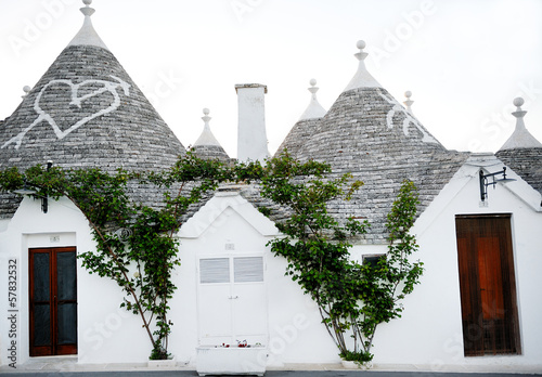 Typical trulli houses in Alberobello, Italy