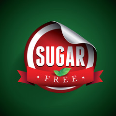 Sugar free label