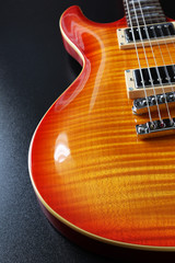 Cherry sunburst electric guitar