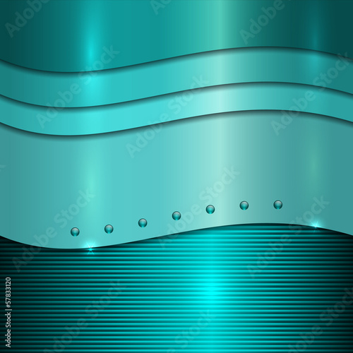 cyan metal background