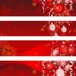 Christmas Background & Red Decoration Banners