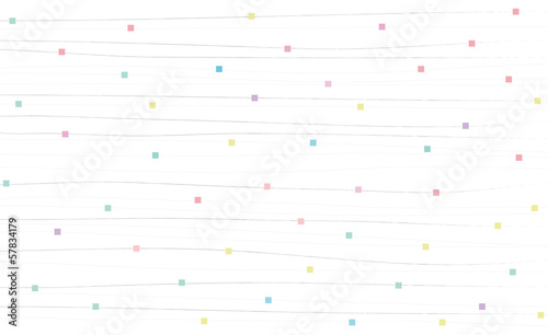 水玉と横線の和柄 & colorful dots on white background