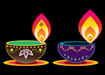 Diwali Candle Light