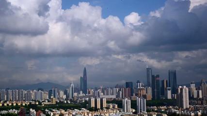 Panorama of Shenzhen,Guangdong Province,China
