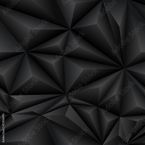 Black Abstract Polygon Background Tile