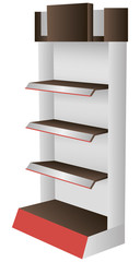 Designer shopping shelving