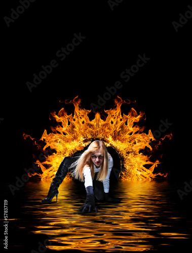 Woman at hell's door