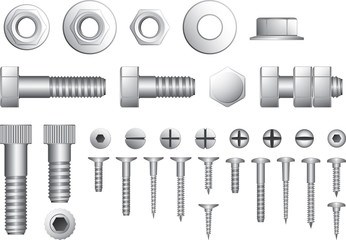 Screws, Screw Drivers and Allen Key
