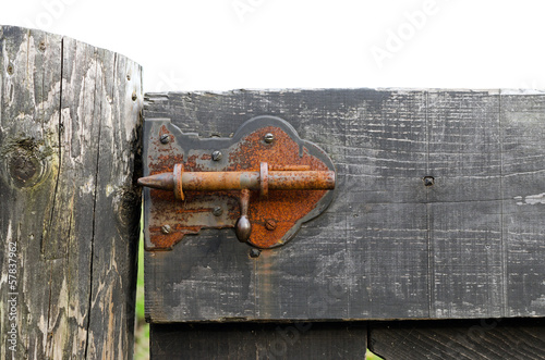 Rusty barn latch