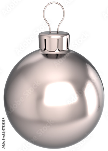 New Year bauble Christmas ball decoration chrome silver sphere
