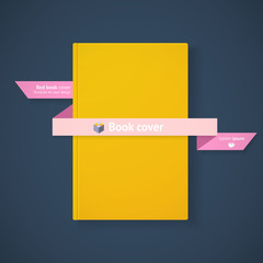 Yellow book cover with ribbon