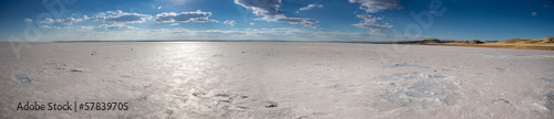Panorama of salt lake in Turkey