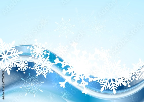 Blue abstract Xmas vector design