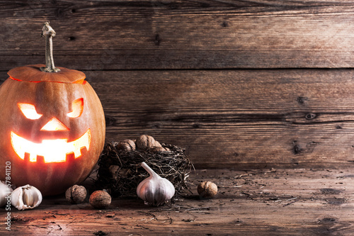 halloween pumpkin with decoration