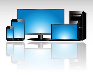 smartphone tablet television laptop desktop