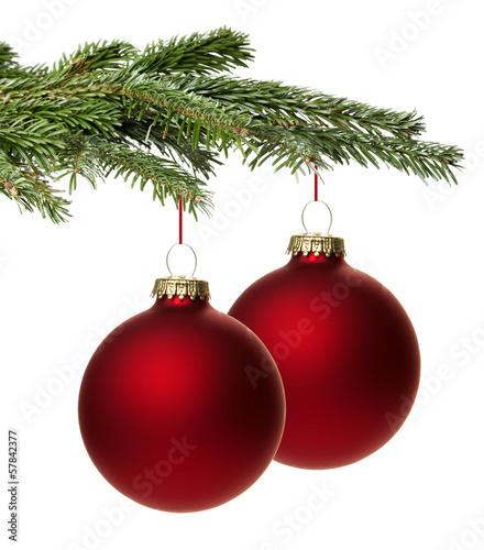 rote weihnachtskugel mit zweig stockfotos und lizenzfreie bilder auf bild 57842377. Black Bedroom Furniture Sets. Home Design Ideas