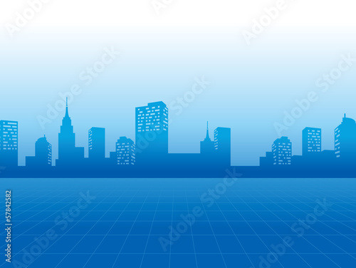 background with business city