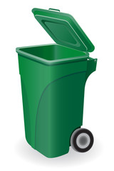trash can vector illustration