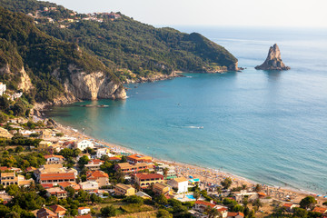 Agios Gordios exotic beach in Corfu island,Greece