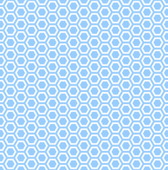 Seamless hexagons blue texture.
