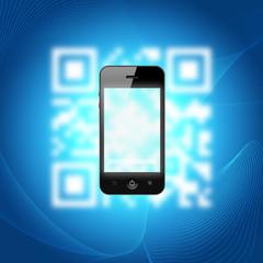 smartphone scanning a qr-code