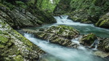 Waterfall time lapse. Triglav National Park, Slovenia.