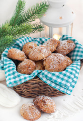 Homemade cookies in a basket