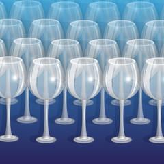 бокалы для вина на синем фоне
