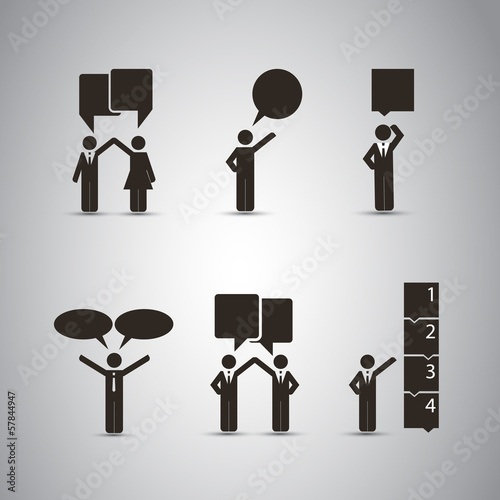 People's Icons with Speech Bubbles