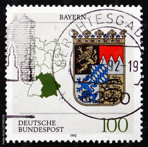 Postage stamp Germany 2002 Coat of Arms, Bavaria