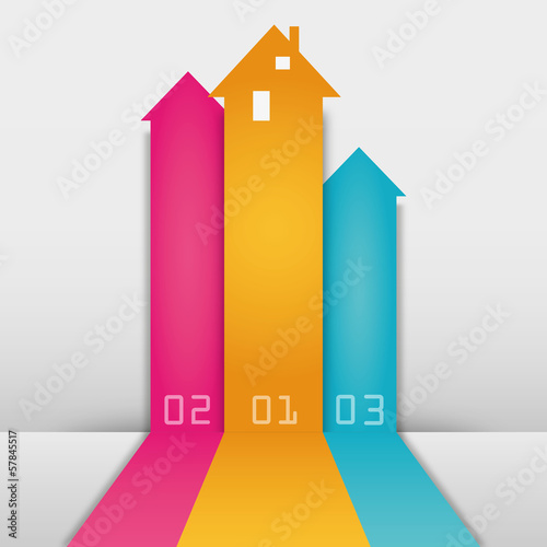 Three Colored Arrows House
