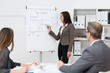 frau hält vortrag zum projektmanagement