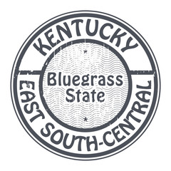 Grunge stamp with name of Kentucky, East South-central