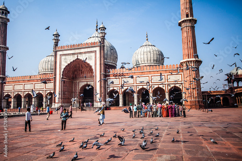 Jama Masjid Mosque, old Delhi, India. - 57845952