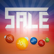 Sale title on colorful background