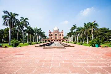 Safdarjung's Tomb in a marble mausoleum in Delhi, India