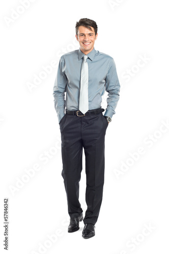 Happy Successful Businessman Walking