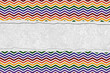 Rainbow Color Chevron Torn Background for your message or invita