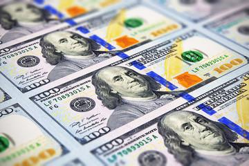 New 100 US dollar banknotes