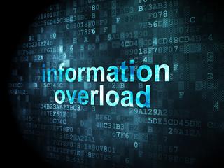 Data concept: Information Overload on digital background